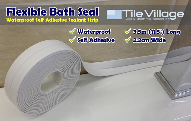 ... Self-Adhesive Waterproof Bath Shower Sinks Sealing Sealant Trim Sealer