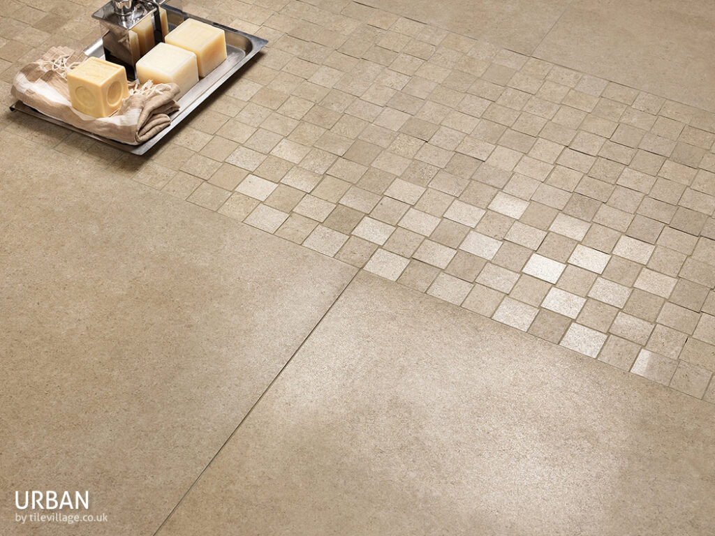 Large format floor tiles