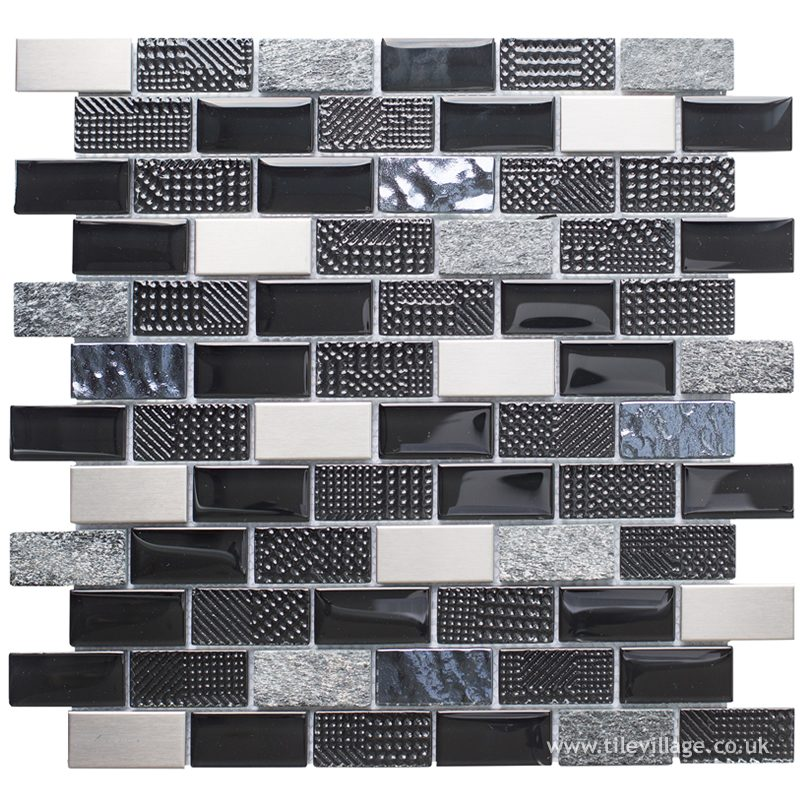 athens black mosaic tile village orpington